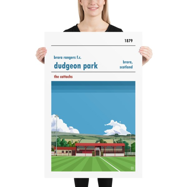 Huge Dudgeon Park and Brora Rangers Football Poster