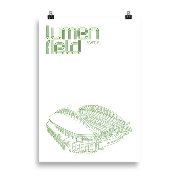 Massive Lumen Field and Seattle Sounders Soccer Print