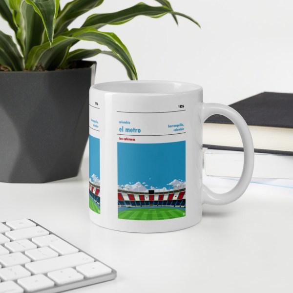 Colombia and El Metro Football Mug