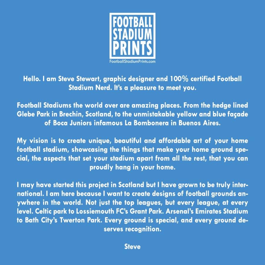 Why I started Football Stadium Prints