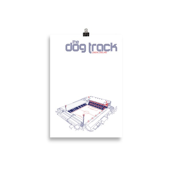 Small Ted Lasso AFC Richmond and Dog Track Football Print