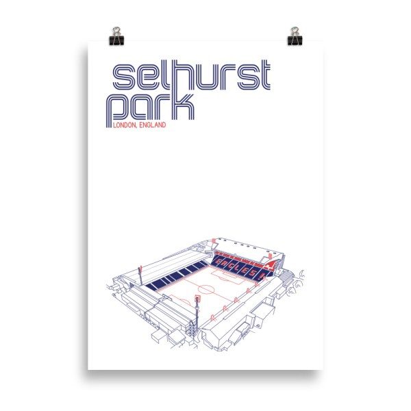 Large Selhurst Park and Crystal Palace Football Poster