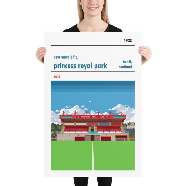 Huge Deveronvale and Princess Royal Park Football Print