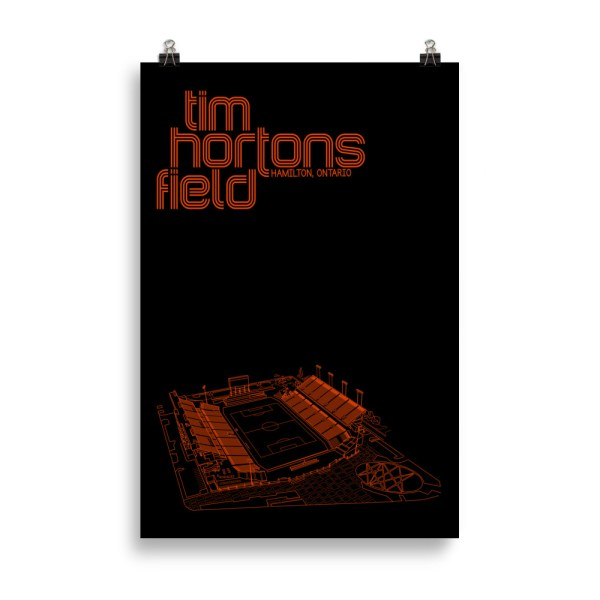 Huge Black Tim Hortons Field and Forge FC Football Poster