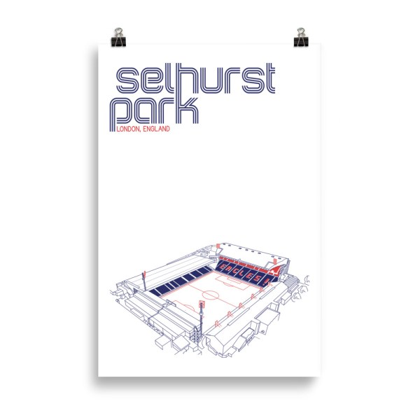 Huge Selhurst Park and Crystal Palace Football Poster