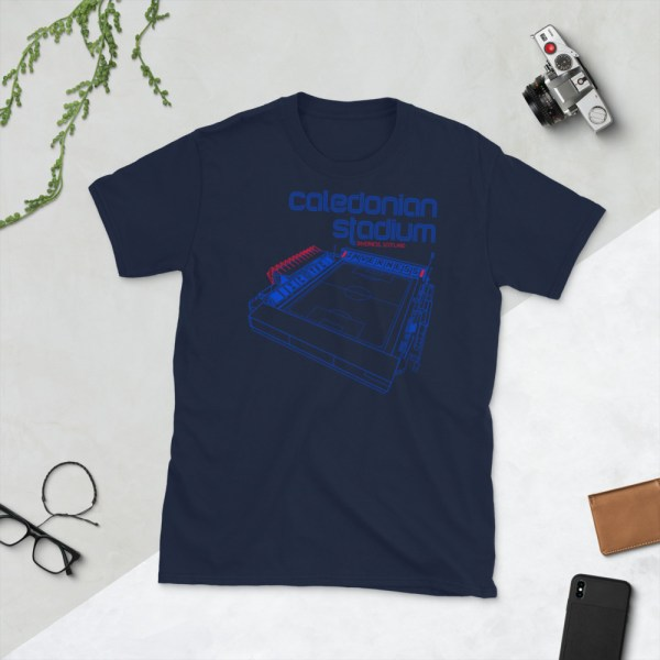 Navy Calendonian Stadium and Inverness Caley Thistle T-Shirt