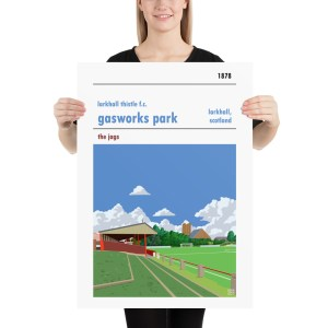 Larkhall Thistle and Gasworks Park football poster