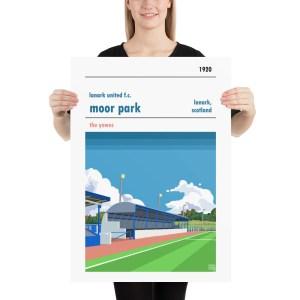 Lanark United and Moor Park Football Print