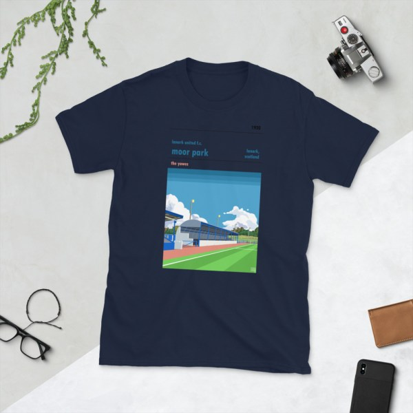 Navy Lanark United and Moor Park T-Shirt