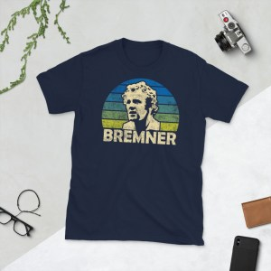 Navy Billy Bremner and Leeds United T-Shirt