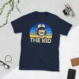 Navy Robin The Kid Yount and Milwaukee Brewers T-Shirt