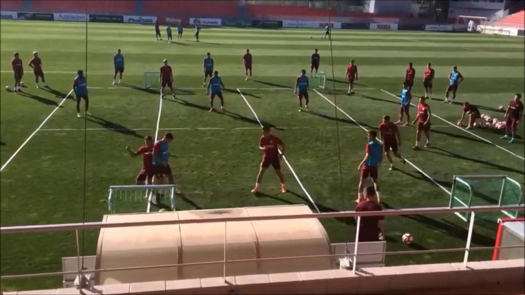 Atlético Madrid drill