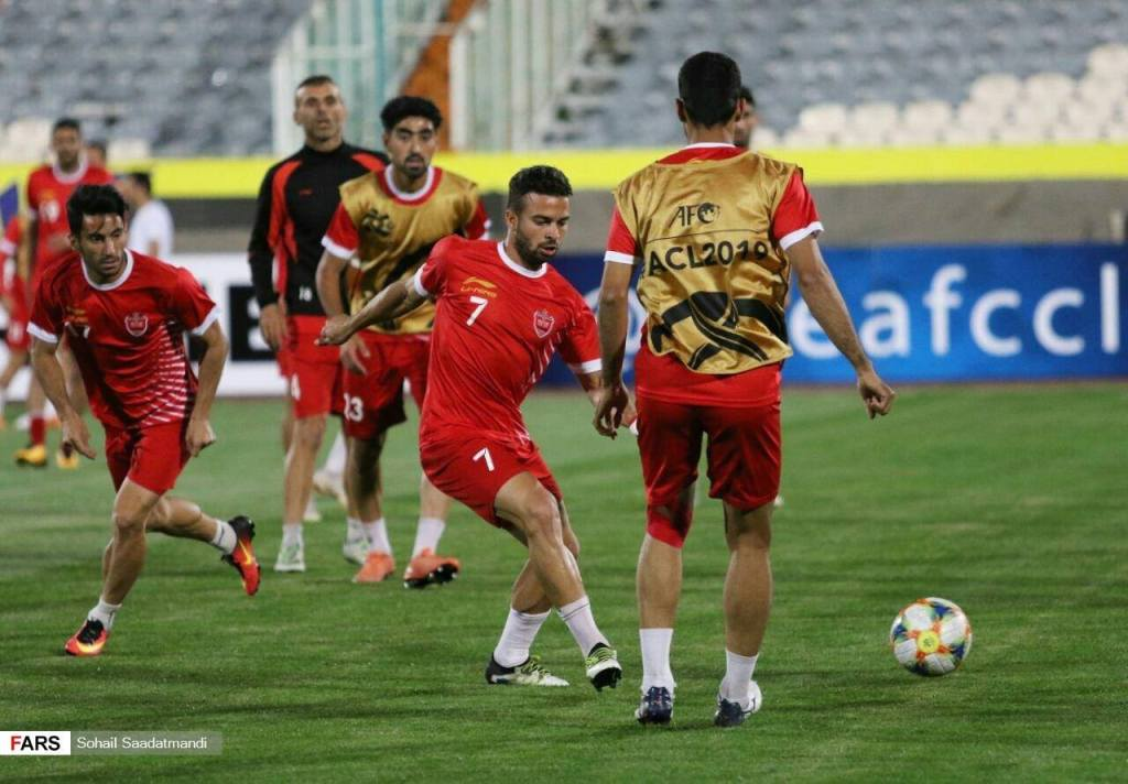 Al Sadd and Persepolis FC training in Azadi Stadium. 2019 AFC Champions League