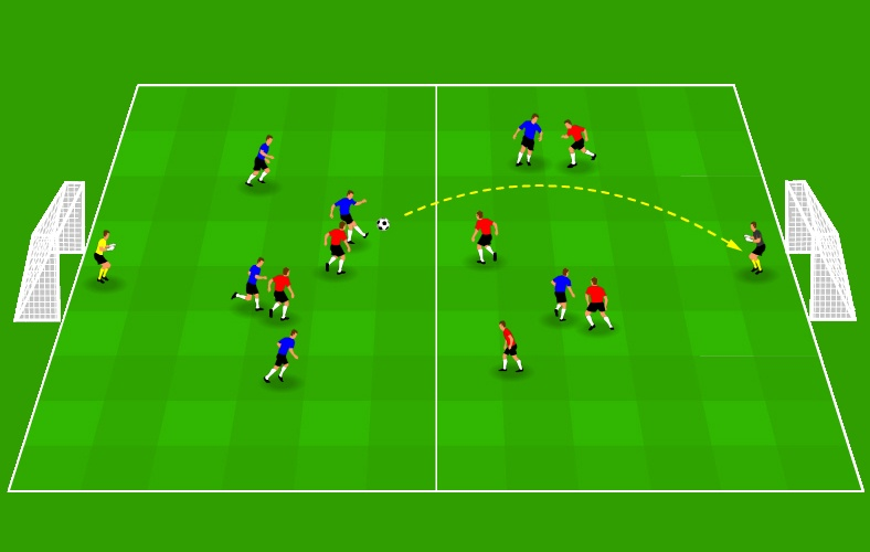 Long-distance shooting drill