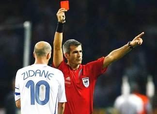 Красная карточка Зидану