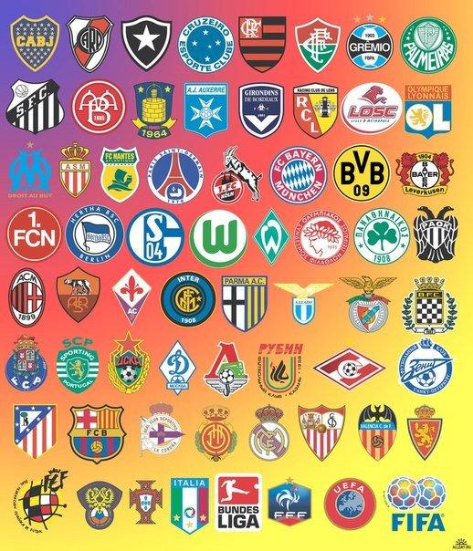 Самые известные футбольные клубы