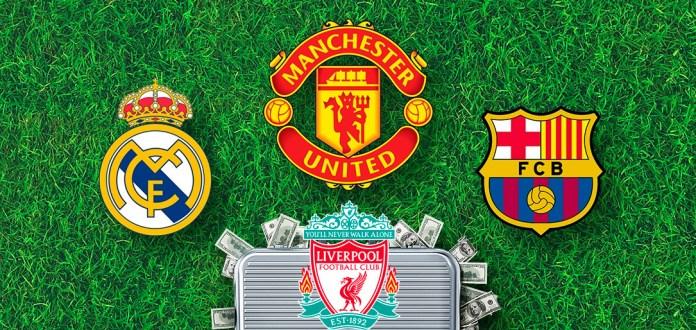 Богатые футбольные клубы в Европе