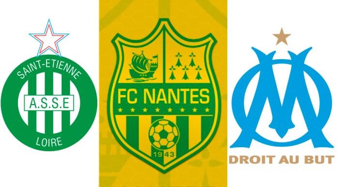 Эмблемы французских футбольных клубов со звездами
