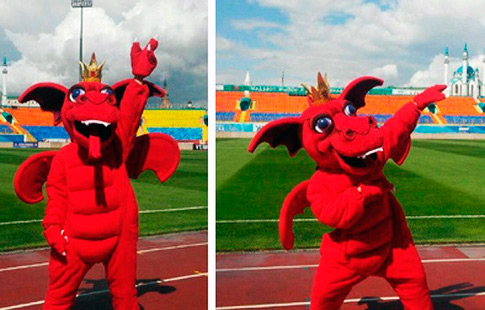 Дракон символ футбольного клуба Рубин