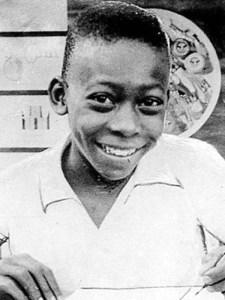 Футболист Пеле в детстве