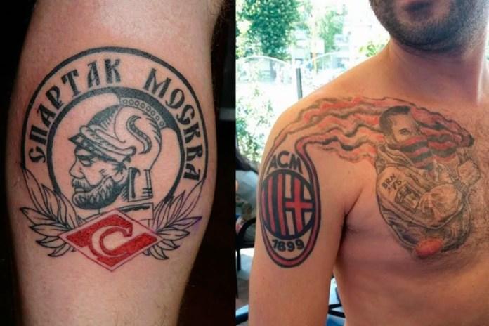 Татуировки футбольных ультрас