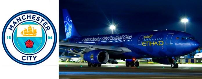 Самолет Манчестер Сити