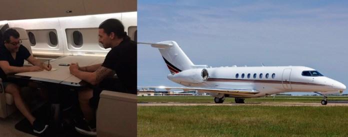 Самолет Златана Ибрагимовича