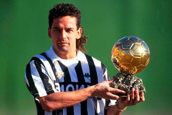 Роберто Баджо фото с золотым мячом