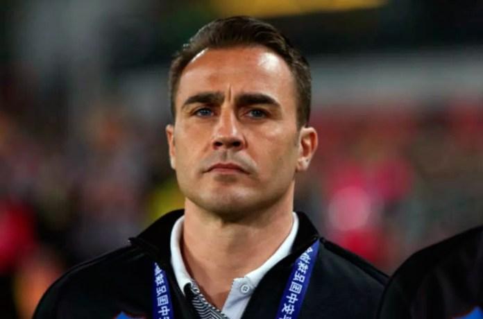 Фабио Каннаваро в роли футбольного тренера