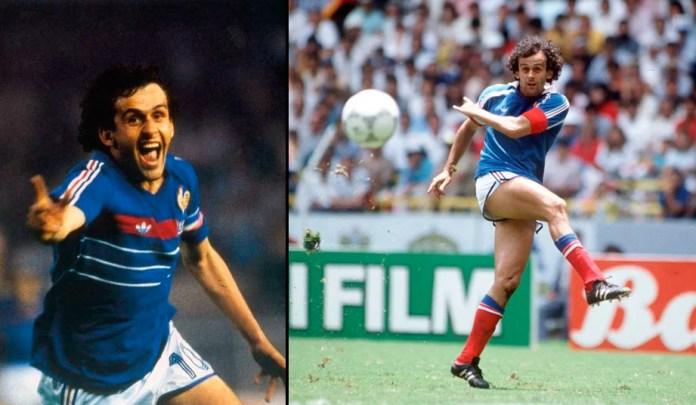 Мишель Платини французский футболист в молодости