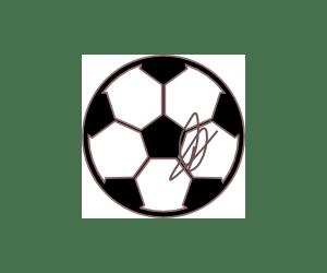 Ballon dedicace par un joueur du club de coeur de l'enfant