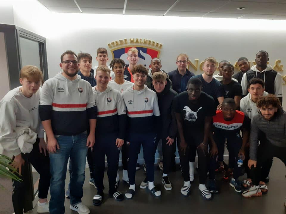 Intervention au club de Caen