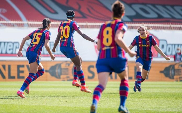 Barcelone a dominé Manchester City (3-0) en quarts de finale aller de la Ligue des championnes