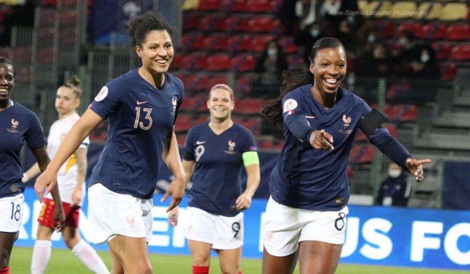 La composition offensive de la France contre l'Angleterre