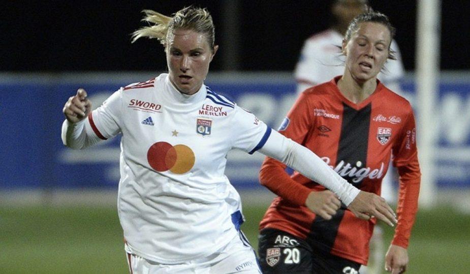 L'Olympique Lyonnais déroule contre Guingamp et se rapproche du PSG en D1