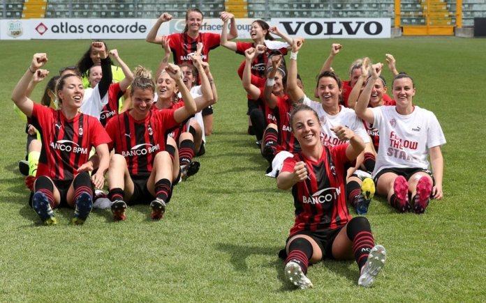 Milan est qualifié en Ligue des championnes.
