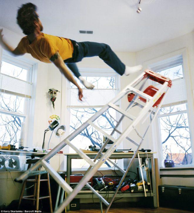 Image result for falling off a ladder
