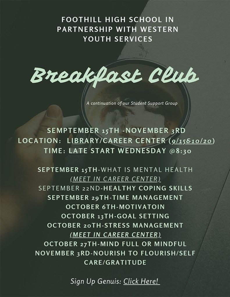 Breakfast Club Fall 2021