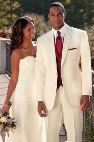 Ivory Modern fit tuxedo