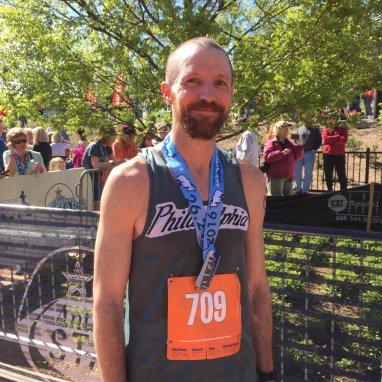 Jeff Powers of Philadelphia, PA, men's winner of the full marathon