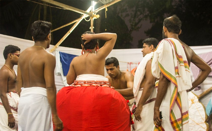 theyyam preparation