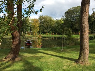 The Alnwick Garden pond