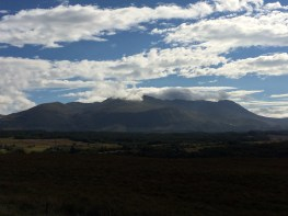 Grampian mountains (Ben Nevis covered by clouds)