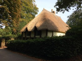 Traditional thatched roof common in Devon