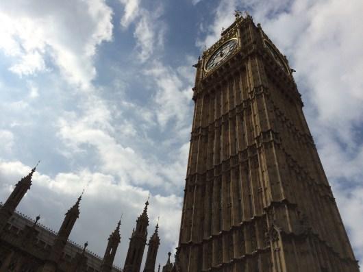 Big Ben above Westminster underground station