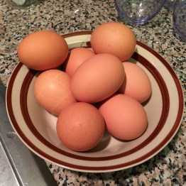 Wash 8 eggs with veggie wash and dry them completely.