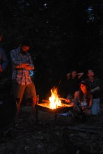River campfire - LNT style (that's Leave No Trace - we pack everything out - including our ashes)