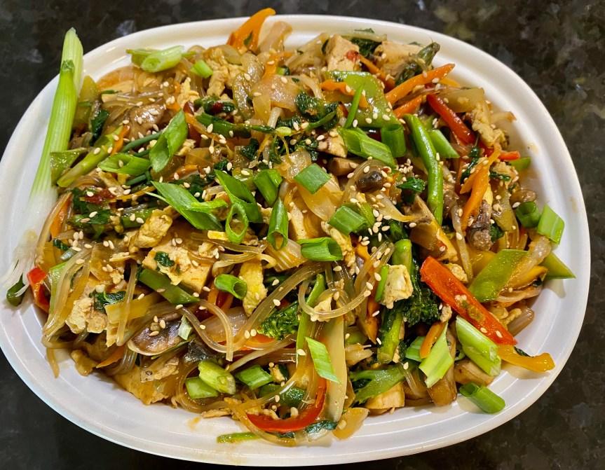 Japchae Noodles With Tofu – Korean