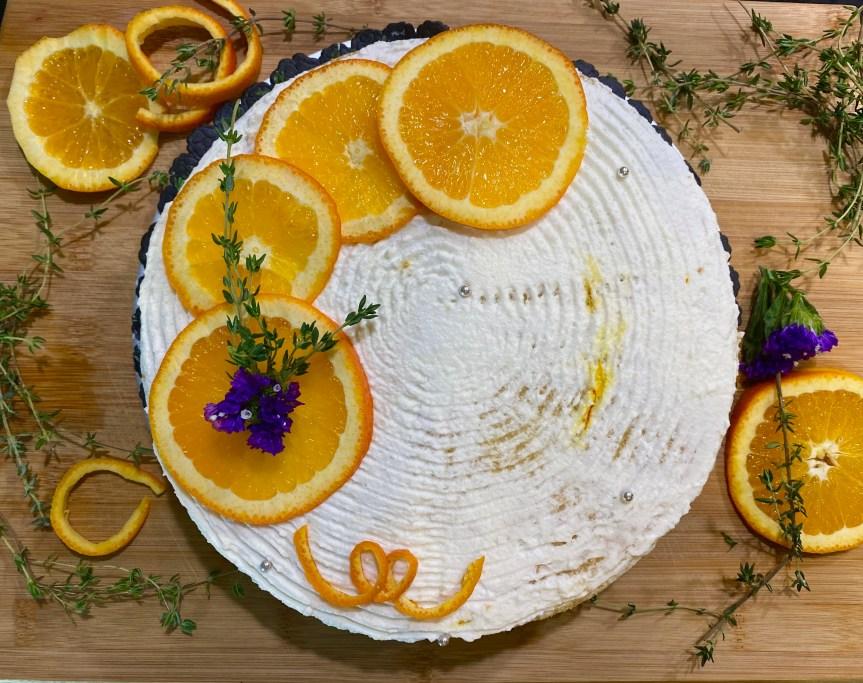 Saffron Me Orange Cake