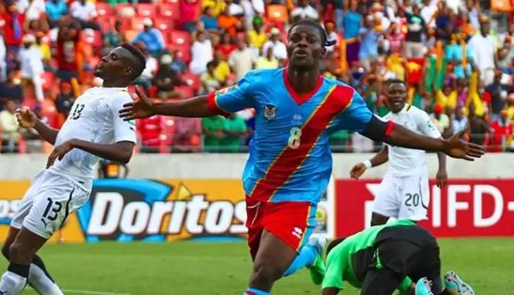 Trésor Mputu avrec les Léopards (RDC vs Ghana)